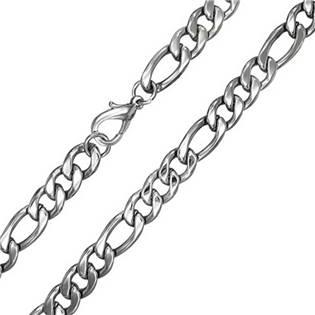 Extra krátký řetěz figaro, šíře 7 mm, délka 35 cm