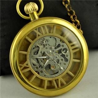 Retro mosazné kapesní hodinky - cibule - KH0024