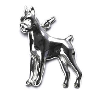 Stříbrný přívěšek pes boxer