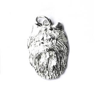 Stříbrný přívěšek hlava yorkšíra