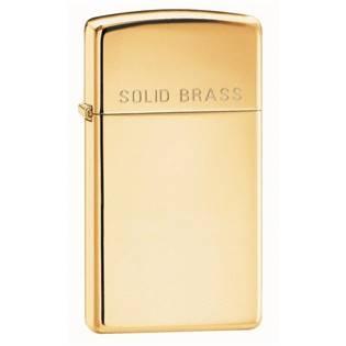 ZIPPO Solid brass Slim zapalovač