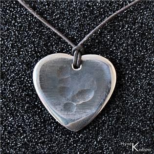 Nerezový přívěsek trsátko - Heart světlé