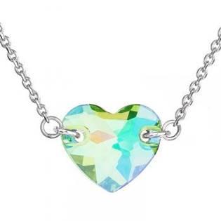 Stříbrný náhrdelník srdíčko, SWAROVSKI® el. Paradise - EG4006
