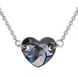 Stříbrný náhrdelník srdíčko, SWAROVSKI® el. Silver Night - EG4008