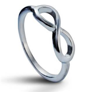 Prsten INFINITY - nekonečno stříbrný, vel. 52