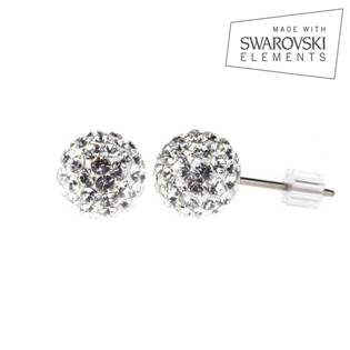 Titanové náušnice s krystaly Swarovski®, Crystal