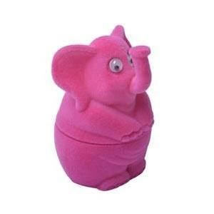 Dárková krabička semiš - slon růžový