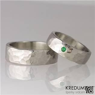 Dámský kovaný prsten Draill Smaragd - velikost 53 - KS1013-SM-53