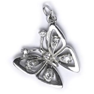 Stříbrný přívěšek - motýl