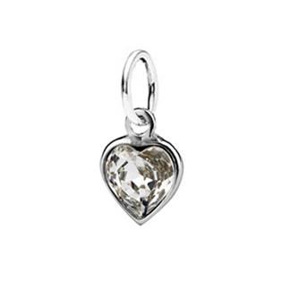 Stříbrný přívěšek srdíčko SWAROVSKI® el., Crystal - CS3730-C