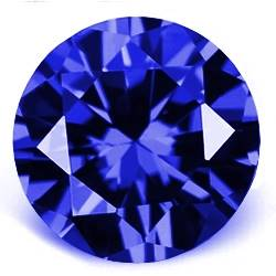 CZ Kubický zirkon - Dark Blue, pr. 2.00 mm