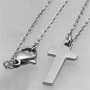 Ocelový řetízek s přívěškem kříž