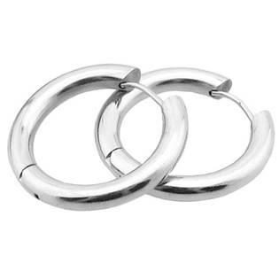 Ocelové náušnice - kruhy 24 mm