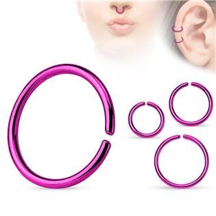 Piercing do nosu - kruh fialový