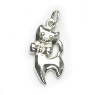 Stříbrný přívěšek - kočka - CS3429