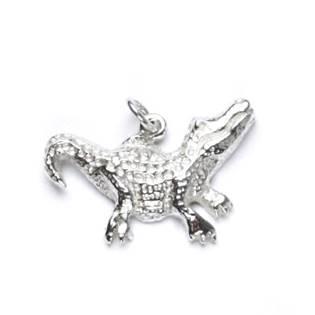 Stříbrný přívěšek - krokodýl