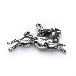 Stříbrný přívěšek - běžící zajíc