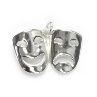 Stříbrný přívěšek - masky