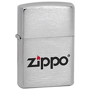 ZIPPO Logo LC - benzínový zapalovač broušený