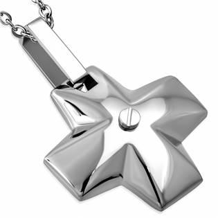 Ocelový přívěšek - řecký kříž