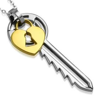 Ocelový přívěšek - klíček