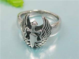 Ocelový prsten - křídla, vel. 58 - velikost 58 - OPR1284-58