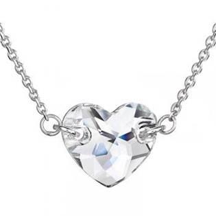Stříbrný náhrdelník srdíčko, SWAROVSKI® el. Crystal - EG4007