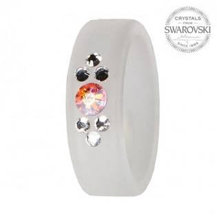 Prsten s krystaly Swarovski®, WHITE, vel. 56