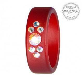 Prsten s krystaly Swarovski®, RUBY, vel. 56