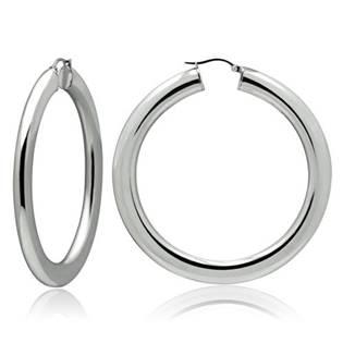 Ocelové náušnice - kruhy 50 mm, tl. 4 mm