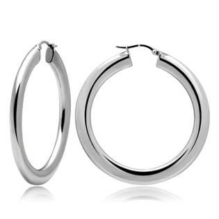 Ocelové náušnice - kruhy 40 mm, tl. 5 mm