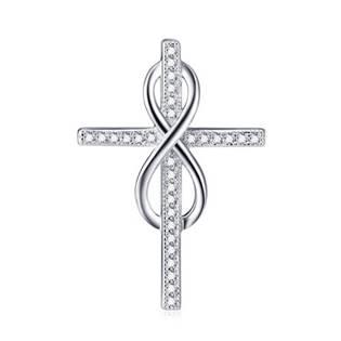 Stříbrný přívěšek kříž a nekonečno - AL4083