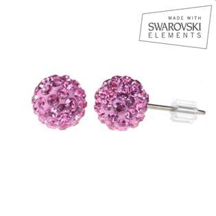Titanové náušnice s krystaly Swarovski®, Rose