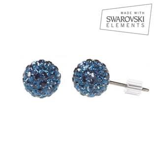 Titanové náušnice s krystaly Swarovski®, Montana Blue