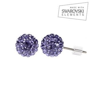 Titanové náušnice s krystaly Swarovski®, Tanzanite