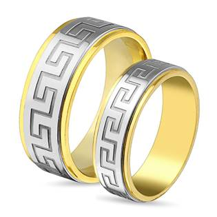 Ocelové snubní prsteny - pár OPR0011 - OPR0011