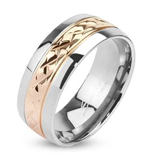 TT1038 Pánský snubní prsten titan - velikost 60 - TT1038-8-60