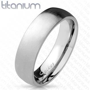 Matný prsten titan - velikost 57 - TT1039-6-57