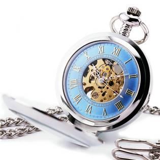 Mechanické kapesní hodinky otevírací - cibule - KH0030