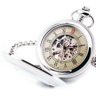 Mechanické kapesní hodinky otevírací - cibule - KH0031