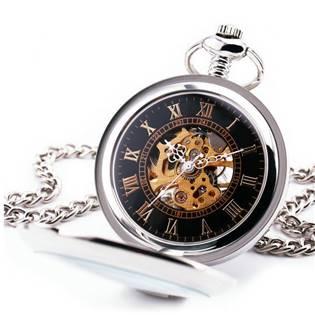 Mechanické kapesní hodinky otevírací - cibule - KH0032