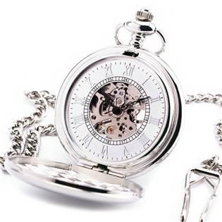 Mechanické kapesní hodinky otevírací - cibule - KH0034