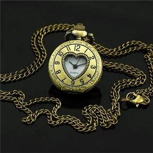 Malé kapesní hodinky - cibule otrvírací - KH0040
