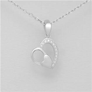 Stříbrný přívěšek srdce - AL4000