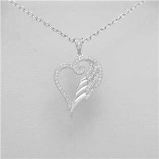 Stříbrný přívěšek srdce - AL4005