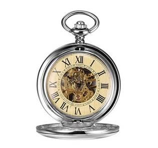 Mechanické kapesní hodinky otevírací - cibule - KH0044