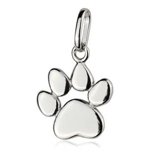 Stříbrný přívěšek psí tlapka - ZB91585
