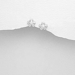 Stříbrné náušnice kytičky - AL0023