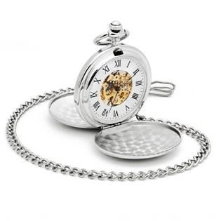 Mechanické kapesní hodinky otevírací - cibule - KH0019