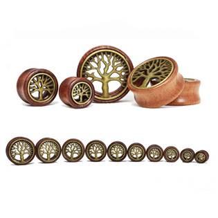 35c92facb Plug do ucha ze dřeva - strom života | Levné ocelové šperky